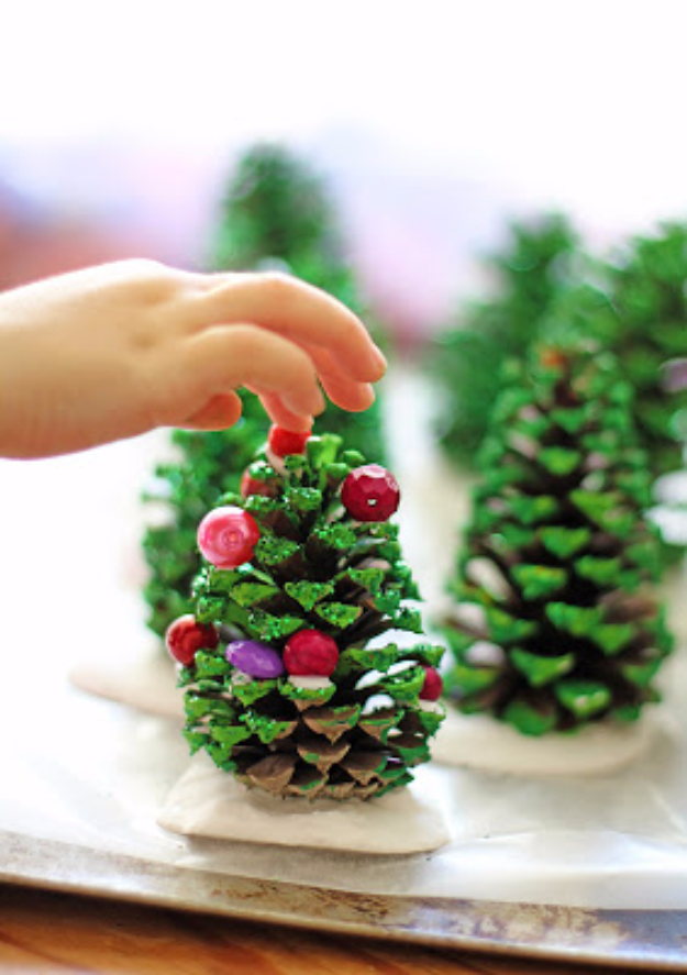 Best DIY Ideas for Your Christmas Tree - Pinecone Trees - Cool Handmade Ornaments, DIY Decorating Ideas and Ornament Tutorials - Creative Ways To Decorate Trees on A Budget - Cheap Rustic Decor, Easy Step by Step Tutorials - Holiday Crafts for Kids and Gifts To Make For Friends and Family http://diyjoy.com/diy-ideas-christmas-tree