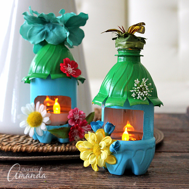 Cool DIY Projects Made With Plastic Bottles - Plastic Bottle Fairy House - Best Easy Crafts and DIY Ideas Made With A Recycled Plastic Bottle - Jewlery, Home Decor, Planters, Craft Project Tutorials - Cheap Ways to Decorate and Creative DIY Gifts for Christmas Holidays - Fun Projects for Adults, Teens and Kids