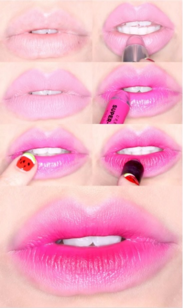Cool DIY Makeup Hacks for Quick and Easy Beauty Ideas - Popsicle Stained Lips - How To Fix Broken Makeup, Tips and Tricks for Mascara and Eye Liner, Lipstick and Foundation Tutorials - Fast Do It Yourself Beauty Projects for Women http://diyjoy.com/makeup-hacks