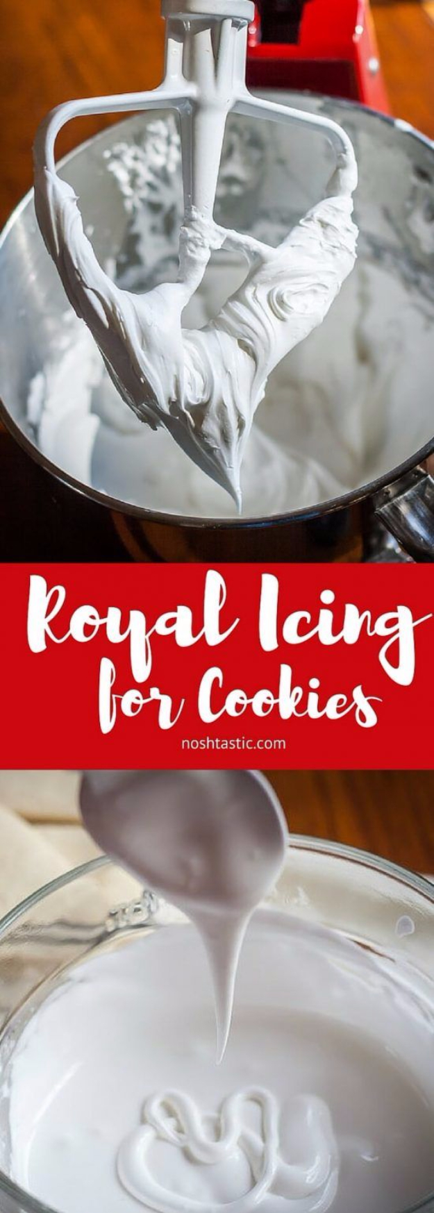Best Baking Hacks - Royal Icing For Cookies - DIY Cooking Tips and Tricks for Baking Recipes - Quick Ways to Bake Cake, Cupcakes, Desserts and Cookies - Kitchen Lifehacks for Bakers