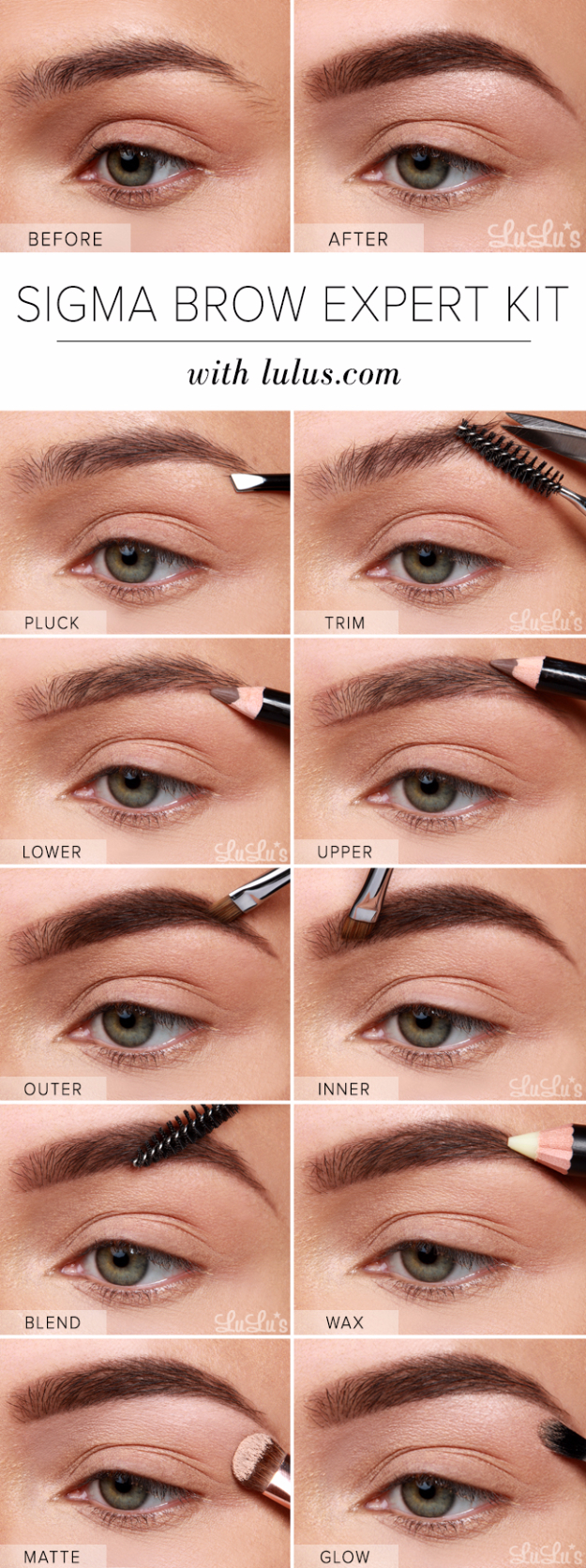 Cool DIY Makeup Hacks for Quick and Easy Beauty Ideas - Sigma Brow Expert Kit Eyebrow - How To Fix Broken Makeup, Tips and Tricks for Mascara and Eye Liner, Lipstick and Foundation Tutorials - Fast Do It Yourself Beauty Projects for Women
