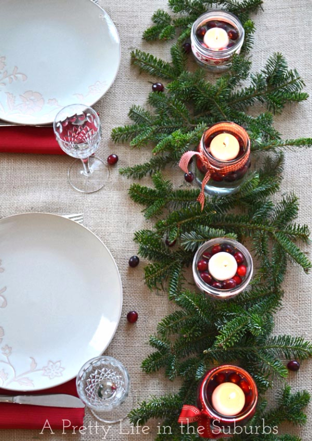 DIY Christmas Centerpieces - Simple And Pretty Christmas Centerpiece - Simple, Easy Holiday Decorating Ideas on A Budget- cheap dollar store crafts holiday #holiday #crafts #christmas