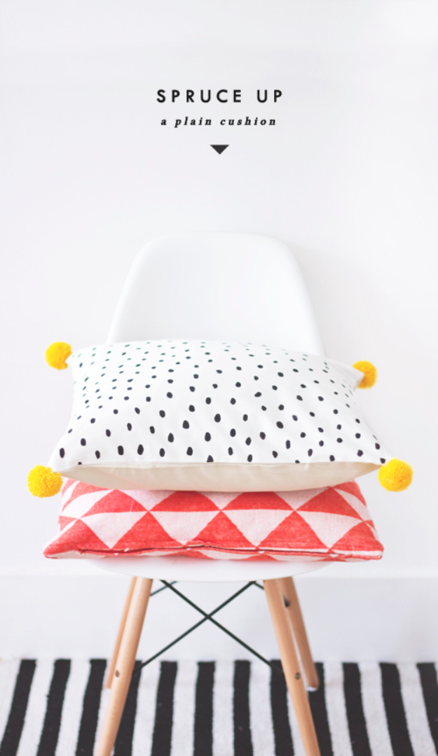 DIY Gifts for Friends - Christmas Gift Idea for Neighbor - - Simple Patterned Pillows - Cute Mason Jar Crafts, Gift Baskets and Cheap and Easy Gift Ideas to Make for Friends - Do It Yourself Projects You Can Sew and Craft That Make Awesome DIY Gifts and Homemade Christmas Presents #diygifts #christmasgifts #xmasgifts