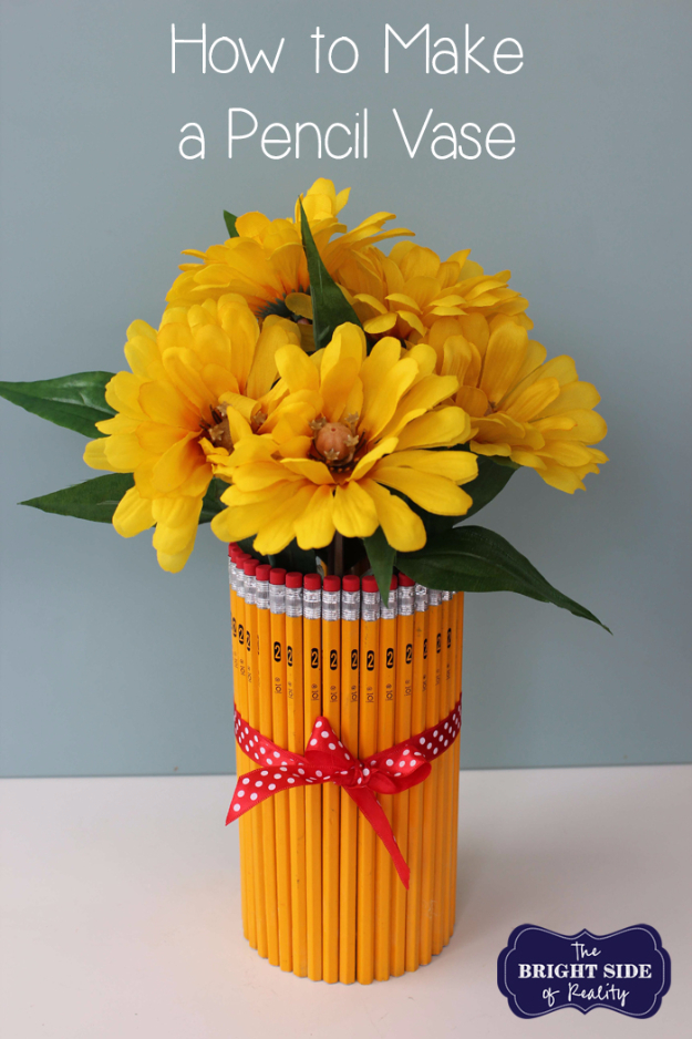 DIY Teacher Gifts - Simple Pencil Vase - Cheap and Easy Presents and DIY Gift Ideas for Teachers at Christmas, End of Year, First Day and Birthday - Teacher Appreciation Gifts and Crafts - Cute Mason Jar Ideas and Thoughtful, Unique Gifts from Kids http://diyjoy.com/diy-teacher-gifts