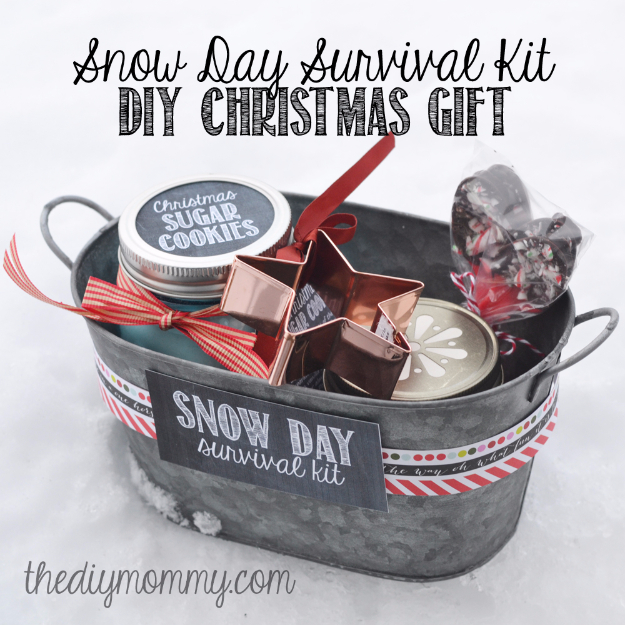 Best DIY Ideas for Wintertime - Snowy Day Survival Kit Christmas Gift - Winter Crafts with Snowflakes, Icicle Art and Projects, Wreaths, Woodland and Winter Wonderland Decor, Mason Jars and Dollar Store Ideas - Easy DIY Ideas to Decorate Home and Room for Winter - Creative Home Decor and Room Decorations for Adults, Teens and Kids #diy #winter #crafts