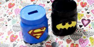 She Makes Super Hero's Mason Jar Piggy Banks That Kids Will Love!
