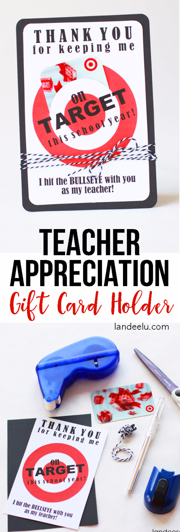 DIY Teacher Gifts - Target Gift Card Holder - Cheap and Easy Presents and DIY Gift Ideas for Teachers at Christmas, End of Year, First Day and Birthday - Teacher Appreciation Gifts and Crafts - Cute Mason Jar Ideas and Thoughtful, Unique Gifts from Kids http://diyjoy.com/diy-teacher-gifts