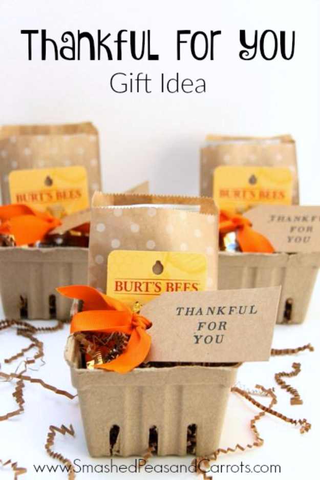DIY Gifts for Friends - Christmas Gift Idea for Neighbor - - Thankful For You Gift DIY - Cute Mason Jar Crafts, Gift Baskets and Cheap and Easy Gift Ideas to Make for Friends - Do It Yourself Projects You Can Sew and Craft That Make Awesome DIY Gifts and Homemade Christmas Presents #diygifts #christmasgifts #xmasgifts