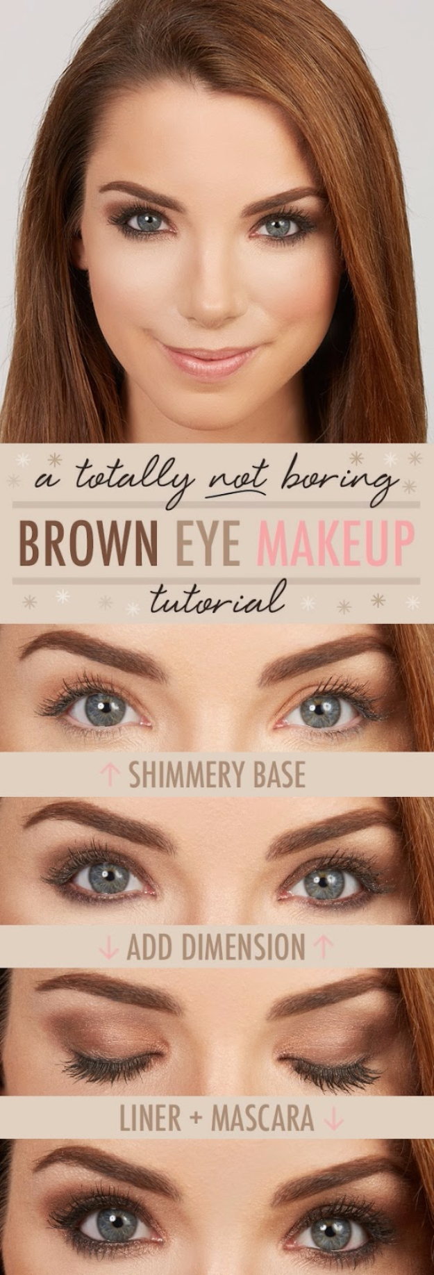 Cool DIY Makeup Hacks for Quick and Easy Beauty Ideas - Totally Not Boring Brown Eye Makeup - How To Fix Broken Makeup, Tips and Tricks for Mascara and Eye Liner, Lipstick and Foundation Tutorials - Fast Do It Yourself Beauty Projects for Women