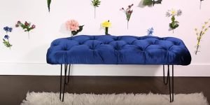 She Makes A Stunning And Artsy Tufted Bench…Here's How To Do It (Watch!)