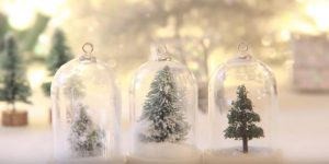 Watch How To Make A Beautiful Waterless Snow Globe Into A Winter Wonderland Ornament!