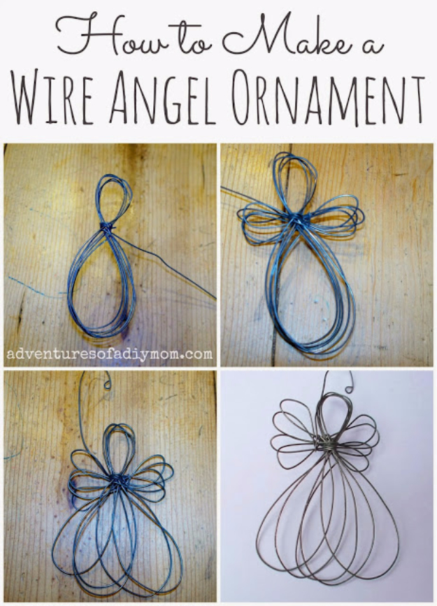 Best DIY Ornaments for Your Tree - Best DIY Ornament Ideas for Your Christmas Tree - Wire Angel Ornament - Cool Handmade Ornaments, DIY Decorating Ideas and Ornament Tutorials - Creative Ways To Decorate Trees on A Budget - Cheap Rustic Decor, Easy Step by Step Tutorials - Holiday Crafts for Kids and Gifts To Make For Friends and Family
