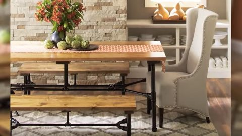 Watch How Easy He Builds This Amazing Wood And Industrial Pipe Table! | DIY Joy Projects and Crafts Ideas