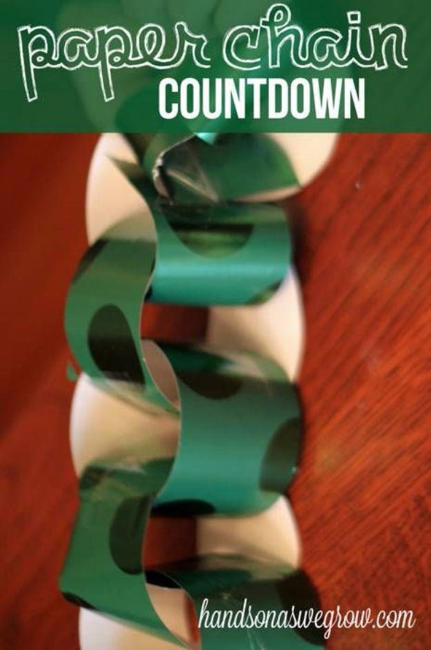 Cool Things to Make With Leftover Wrapping Paper - Wrapping Paper Chain - Easy Crafts, Fun DIY Projects, Gifts and DIY Home Decor Ideas - Don't Trash The Christmas Wrapping Paper and Learn How To Make These Awesome Ideas Instead - Step by Step Tutorials With Instructions