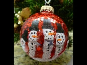 She Makes An Awesome Snowman Ornament With Her Handprint (Watch!)