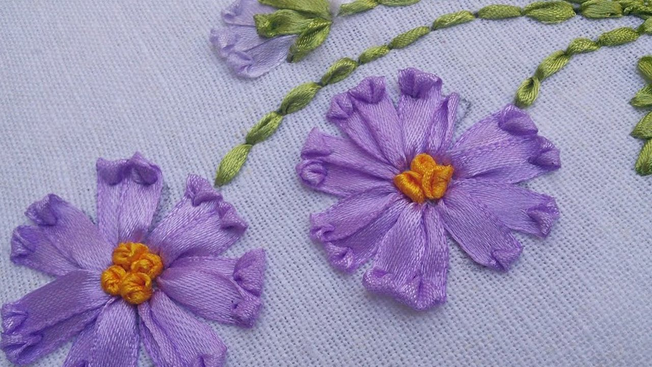 Watch How She Does This Lovely Ribbon Embroideryso Easy Diy Joy