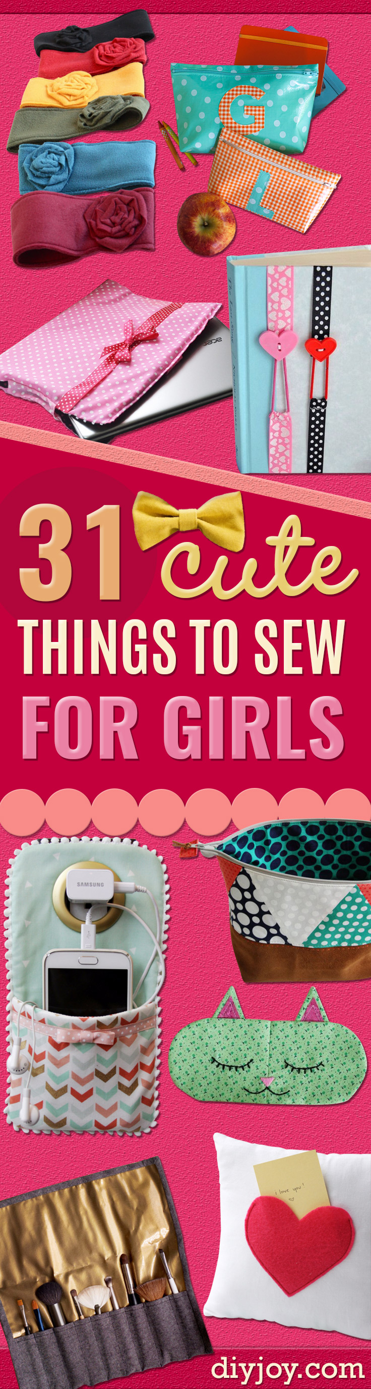 Best Sewing Projects to Make For Girls - Creative Sewing Tutorials for Baby Kids and Teens - Free Patterns and Step by Step Tutorials for Dresses, Blouses, Shirts, Pants, Hats and Bags #sewing #sewingprojects