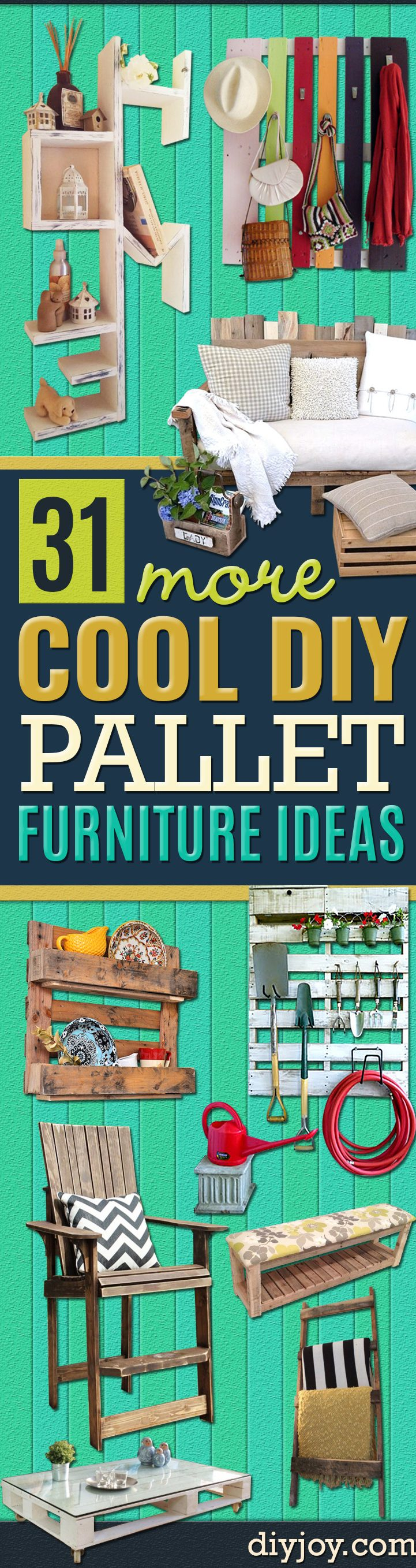 Best DIY Pallet Furniture Ideas - Cool Pallet Tables, Sofas, End Tables, Coffee Table, Bookcases, Wine Rack, Beds and Shelves - Rustic Wooden Pallet Furniture Made Easy With Step by Step Tutorials - Quick DIY Projects and Crafts by DIY Joy