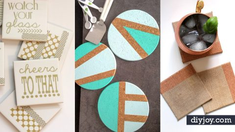 33 DIY Ideas for Handmade Coasters | DIY Joy Projects and Crafts Ideas