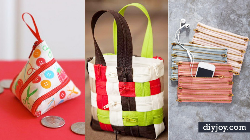 33 cool diy projects you can make with a zipper for Cool diy crafts to do at home