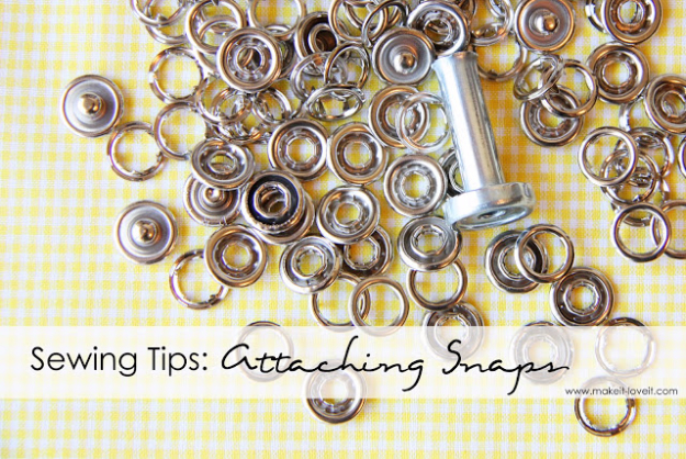 sewing hacks - Attaching Snaps The Easy Way - Best Tips and Tricks for Sewing Patterns, Projects, Machines, Hand Sewn Items #sewing #hacks