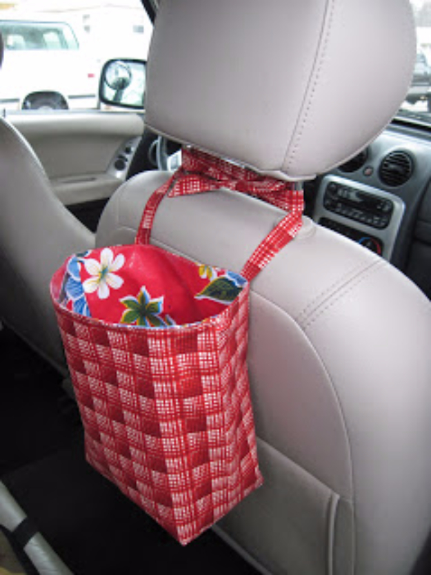 DIY Car Accessories and Ideas for Cars - Back Seat Bags - Interior and Exterior, Seats, Mirror, Seat Covers, Storage, Carpet and Window Cleaners and Products - Decor, Keys and Iphone and Tablet Holders - DIY Projects and Crafts for Women and Men