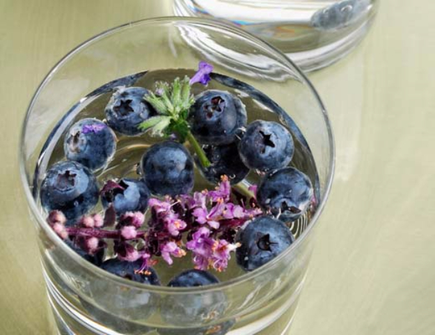 Best DIY Detox Waters and Recipes - Blueberry Lavender Water - Homemade Detox Water Instructions and Tutorials - Lose Weight and Remove Toxins From the Body for Your New Years Resolutions - Easy and Quick Recipe Ideas for Getting Healthy in 2017 - DIY Projects and Crafts by DIY Joy