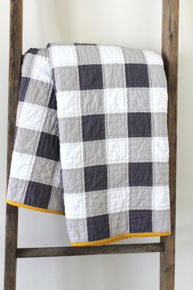Best Sewing Projects to Make For Boys - Boyish Looking Quilt - Creative Sewing Tutorials for Baby Kids and Teens - Free Patterns and Step by Step Tutorials for Jackets, Jeans, Shirts, Pants, Hats, Backpacks and Bags - Easy DIY Projects and Quick Crafts Ideas #sewing #kids #boys #sewingprojects