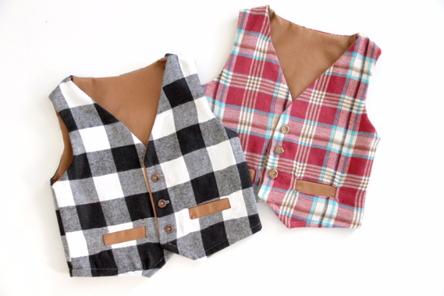 Best Sewing Projects to Make For Boys - Boys Cute Vest - Creative Sewing Tutorials for Baby Kids and Teens - Free Patterns and Step by Step Tutorials for Jackets, Jeans, Shirts, Pants, Hats, Backpacks and Bags - Easy DIY Projects and Quick Crafts Ideas #sewing #kids #boys #sewingprojects