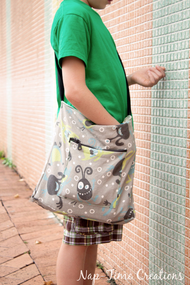 Best Sewing Projects to Make For Boys - Boys Messenger Bag - Creative Sewing Tutorials for Baby Kids and Teens - Free Patterns and Step by Step Tutorials for Jackets, Jeans, Shirts, Pants, Hats, Backpacks and Bags - Easy DIY Projects and Quick Crafts Ideas #sewing #kids #boys #sewingprojects