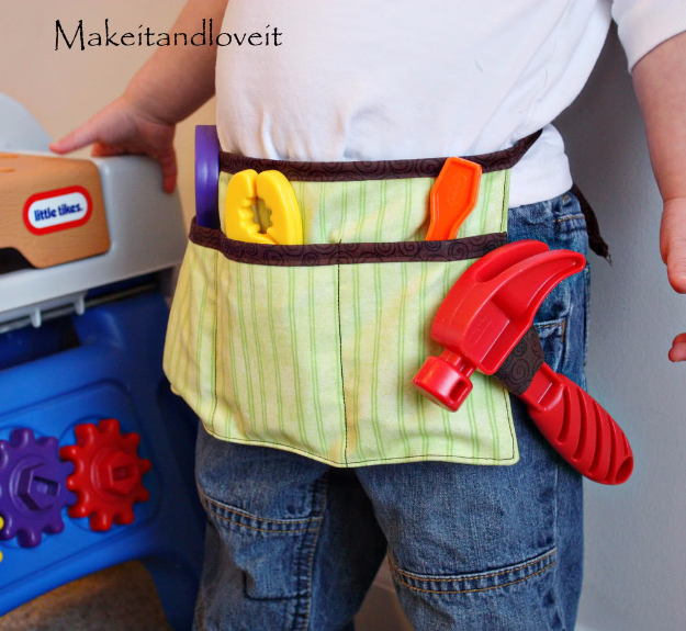 Best Sewing Projects to Make For Boys - Boy's Tool Belt - Creative Sewing Tutorials for Baby Kids and Teens - Free Patterns and Step by Step Tutorials for Jackets, Jeans, Shirts, Pants, Hats, Backpacks and Bags - Easy DIY Projects and Quick Crafts Ideas #sewing #kids #boys #sewingprojects