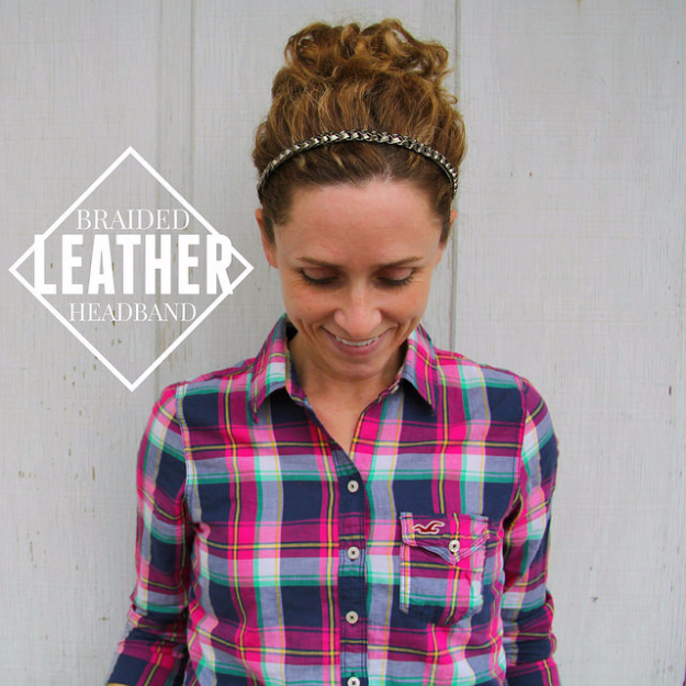 Creative Leather Crafts - Braided Leather Headband - Best DIY Projects Made With Leather - Easy Handmade Do It Yourself Gifts and Fashion - Cool Crafts and DYI Leather Projects With Step by Step Tutorials http://diyjoy.com/diy-leather-crafts