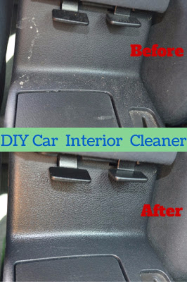 DIY Car Accessories and Ideas for Cars - Car Interior Cleaning Spray - Interior and Exterior, Seats, Mirror, Seat Covers, Storage, Carpet and Window Cleaners and Products - Decor, Keys and Iphone and Tablet Holders - DIY Projects and Crafts for Women and Men