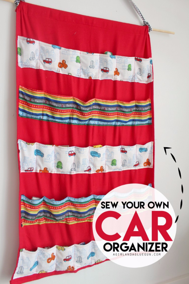 Best Sewing Projects to Make For Boys - Car Organizer - Creative Sewing Tutorials for Baby Kids and Teens - Free Patterns and Step by Step Tutorials for Jackets, Jeans, Shirts, Pants, Hats, Backpacks and Bags - Easy DIY Projects and Quick Crafts Ideas #sewing #kids #boys #sewingprojects