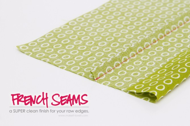sewing hacks - Clean French Seams - Best Tips and Tricks for Sewing Patterns, Projects, Machines, Hand Sewn Items #sewing #hacks