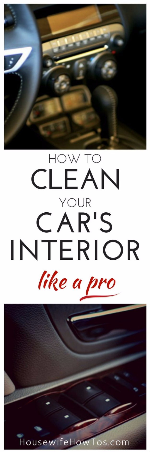 DIY Car Accessories and Ideas for Cars - Clean Your Car's Interior Like A Pro - Interior and Exterior, Seats, Mirror, Seat Covers, Storage, Carpet and Window Cleaners and Products - Decor, Keys and Iphone and Tablet Holders - DIY Projects and Crafts for Women and Men