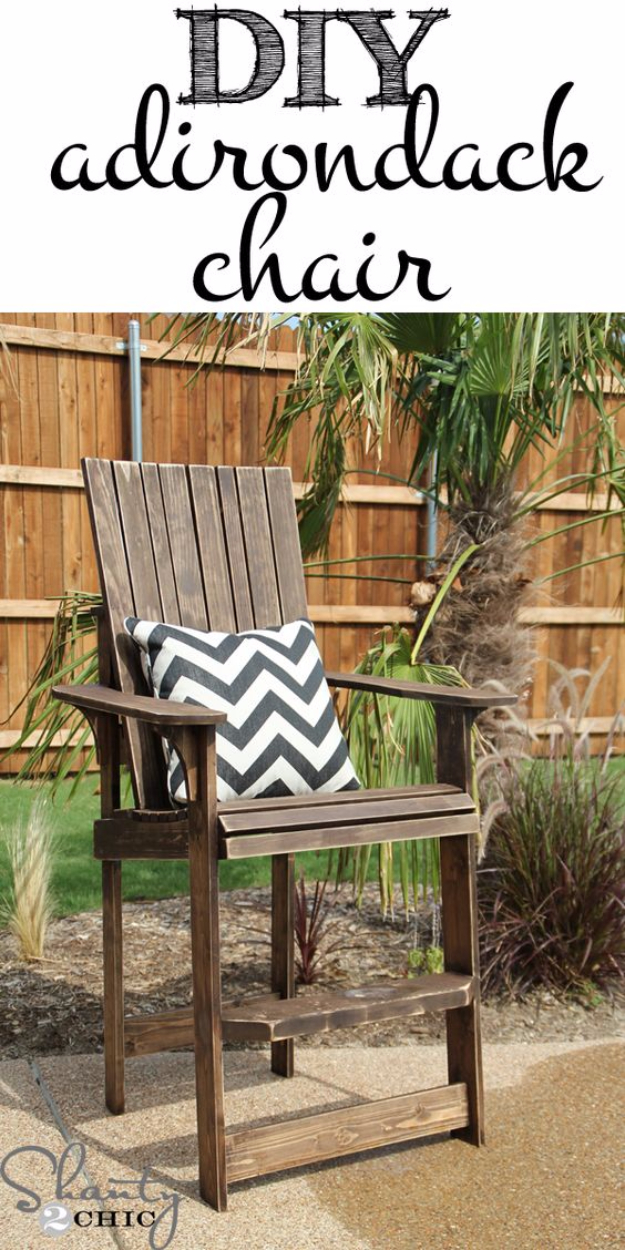 Best DIY Pallet Furniture Ideas - DIY Adirondack Chair From Wood Pallet - Cool Pallet Tables, Sofas, End Tables, Coffee Table, Bookcases, Wine Rack, Beds and Shelves - Rustic Wooden Pallet Furniture Made Easy With Step by Step Tutorials - Quick DIY Projects and Crafts by DIY Joy