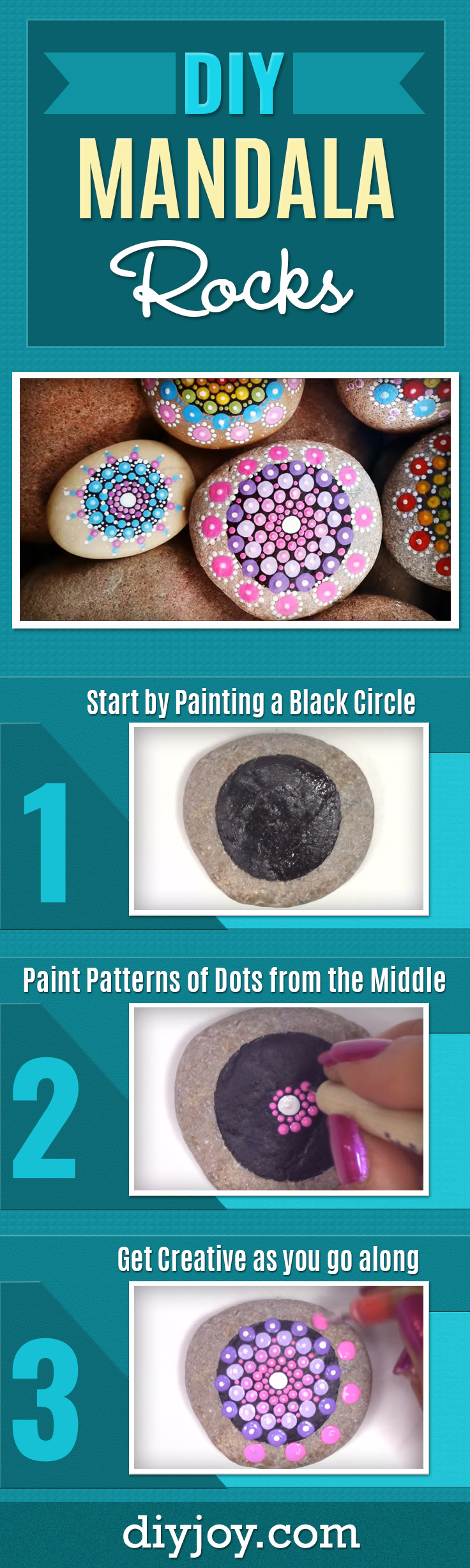 DIY Ideas With Rocks - Cheap and Easy Crafts Idea - How To Make a Mandala Rock Painting - Best DIY Gifts for Christmas Presents