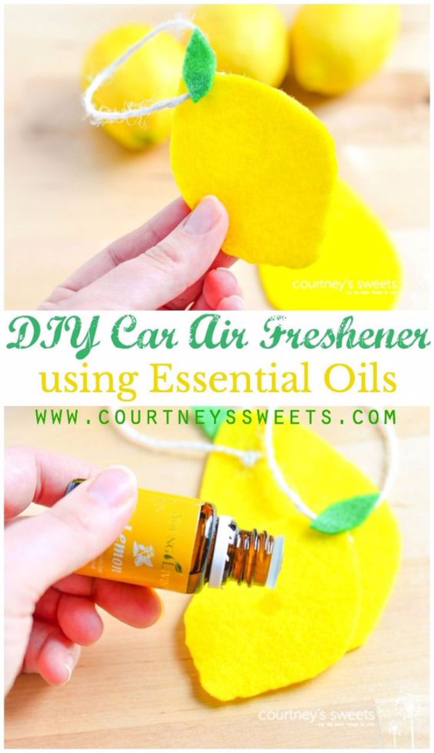 DIY Car Accessories and Ideas for Cars - DIY Car Air Freshener Using Essential Oils - Interior and Exterior, Seats, Mirror, Seat Covers, Storage, Carpet and Window Cleaners and Products - Decor, Keys and Iphone and Tablet Holders - DIY Projects and Crafts for Women and Men