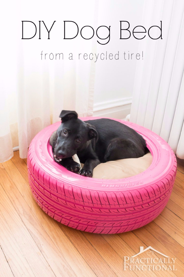 Best DIY Hacks for The New Year - DIY Dog Bed From A Recycled Tire - Easy Organizing and Home Improvement Ideas - Tips and Tricks for Quick DIY Ideas to Simplify Life - Step by Step Hack Tutorials for Genius Ways to Make Quick Things Easier http://diyjoy.com/best-diy-hacks