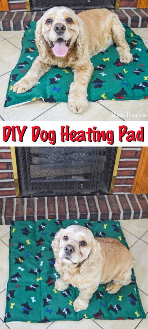 DIY Dog Hacks - DIY Dog Heating Pad - Training Tips, Ideas for Dog Beds and Toys, Homemade Remedies for Fleas and Scratching - Do It Yourself Dog Treat Recips, Food and Gear for Your Pet #dogs #diy #crafts