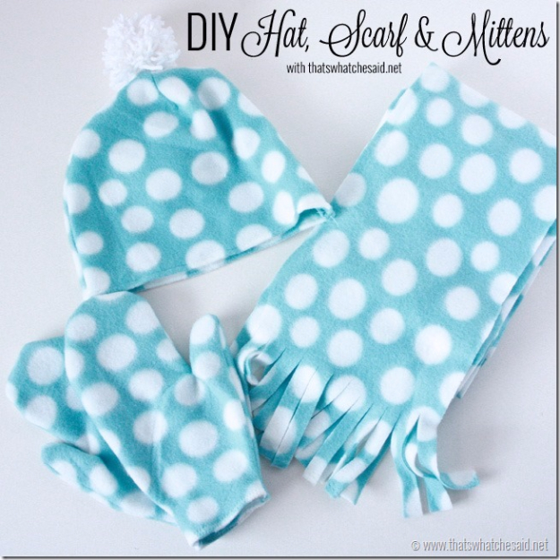 Best Sewing Projects to Make For Girls - DIY Hat Scarf And Mittens - Creative Sewing Tutorials for Baby Kids and Teens - Free Patterns and Step by Step Tutorials for Dresses, Blouses, Shirts, Pants, Hats and Bags #sewing #sewingideas