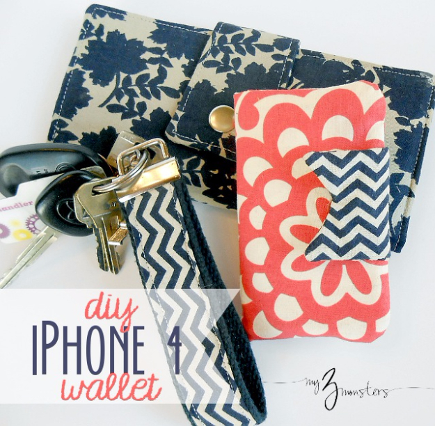 Best Sewing Projects to Make For Girls - DIY Iphone Wallet - Creative Sewing Tutorials for Baby Kids and Teens - Free Patterns and Step by Step Tutorials for Dresses, Blouses, Shirts, Pants, Hats and Bags #sewing #sewingideas