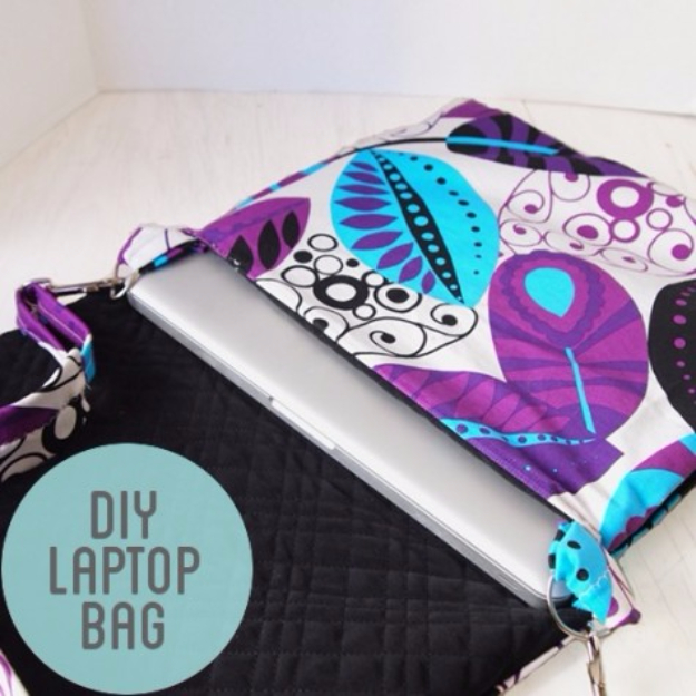 Best Sewing Projects to Make For Girls - DIY Laptop Bag - Creative Sewing Tutorials for Baby Kids and Teens - Free Patterns and Step by Step Tutorials for Dresses, Blouses, Shirts, Pants, Hats and Bags #sewing #sewingideas