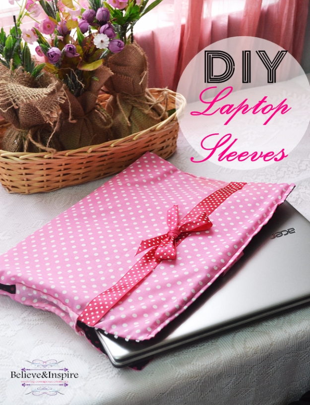 Best Sewing Projects to Make For Girls - DIY Laptop Sleeves - Creative Sewing Tutorials for Baby Kids and Teens - Free Patterns and Step by Step Tutorials for Dresses, Blouses, Shirts, Pants, Hats and Bags #sewing #sewingideas