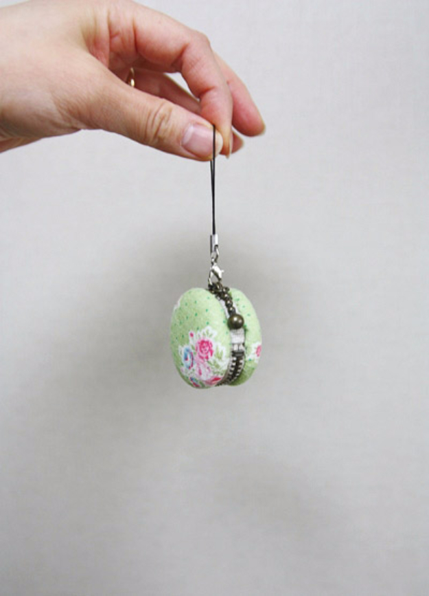 Best Sewing Projects to Make For Girls - DIY Macaron Coin Purse - Creative Sewing Tutorials for Baby Kids and Teens - Free Patterns and Step by Step Tutorials for Dresses, Blouses, Shirts, Pants, Hats and Bags #sewing #sewingideas