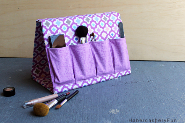 Best Sewing Projects to Make For Girls - DIY Make Up Organizer - Creative Sewing Tutorials for Baby Kids and Teens - Free Patterns and Step by Step Tutorials for Dresses, Blouses, Shirts, Pants, Hats and Bags #sewing #sewingideas