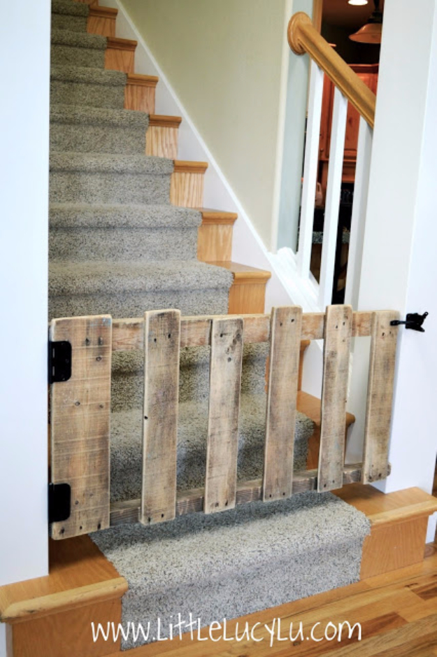 Best DIY Pallet Furniture Ideas - DIY Pallet Baby Gate - Cool Pallet Tables, Sofas, End Tables, Coffee Table, Bookcases, Wine Rack, Beds and Shelves - Rustic Wooden Pallet Furniture Made Easy With Step by Step Tutorials - Quick DIY Projects and Crafts by DIY Joy http://diyjoy.com/best-diy-pallet-furniture-ideas