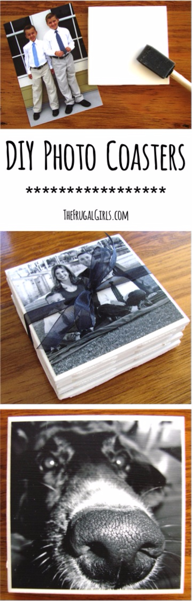 DIY Coasters - DIY Photo Coasters - Best Quick DIY Gifts and Home Decor - Easy Step by Step Tutorials for DIY Coaster Projects - Mod Podge, Tile, Painted, Photo and Sewing Projects - Cool Christmas Presents for Him and Her - DIY Projects and Crafts by DIY Joy