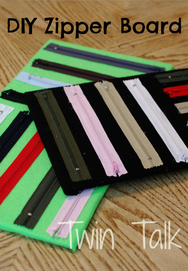 Creative DIY Projects With Zippers - DIY Zipper Board - Easy Crafts and Fashion Ideas With A Zipper - Jewelry, Home Decor, School Supplies and DIY Gift Ideas - Quick DIYs for Fun Weekend Projects